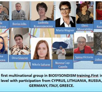 THE FIRST MULTINATIONAL GROUP IN BIOSYNDISM TRAINING.